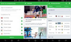 aplicaciones resultados futbol